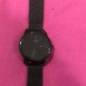 Black fossil watch!!